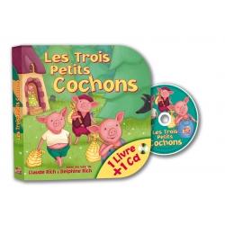 Les Trois Petits Cochons - Livre pages carton + CD