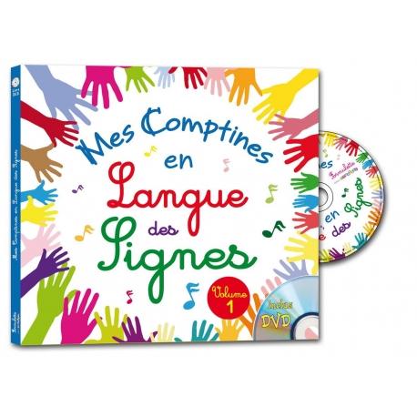 MES COMPTINES EN LANGUE DES SIGNES livre-DVD